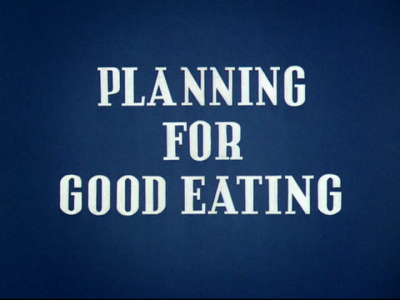 Planning for Good Eating