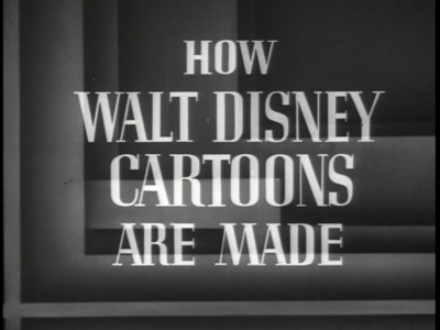 How Walt Disney Cartoons Are Made