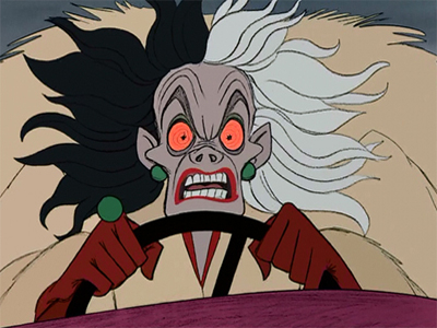 Cruella D Enfer Chronique Disney Portrait Personnage Mechant