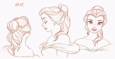Belle Chronique Disney Portrait Personnage Princesse